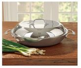 All-Clad Tri-Ply Stainless Steel Braiser with Domed Lid, 4 quart