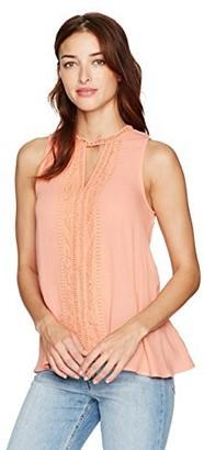 Taylor & Sage Women's Lace Trim Gigi Sleeveless Top