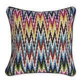 Jonathan Adler Multi Sandpiper Drive Bargello Throw Pillow