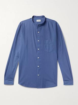 Hartford Grandad-Collar Cotton Shirt