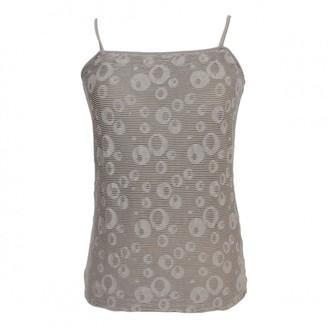 Armani Collezioni Grey Polyester Tops