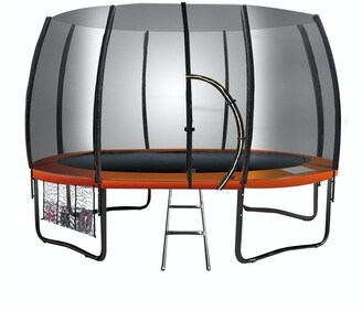 Kahuna Twister 8ft Springless Trampoline With Mat Pad