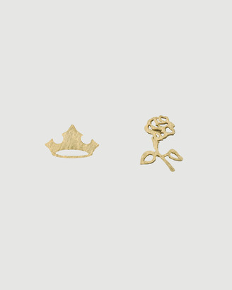 Short Story Disney Earring Aurora Flower and Crown