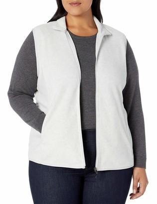 Amazon Essentials Women's Plus Size Full-Zip Polar Fleece Vest