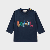 Paul Smith Baby Boys' Navy City Logo Print 'Manby' Top