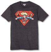 Superman Men's Textfill Tee Charcoal