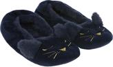 Accessorize Livvie Midnight Cat Ballerina Slippers