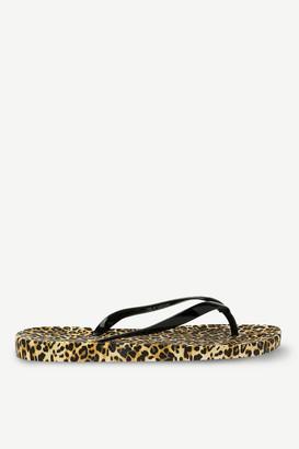 Ardene Rubber Leopard Print Flip-Flops