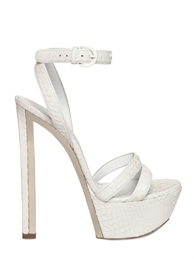 Casadei 150mm Ayers Mirrored Sandals