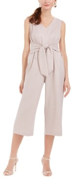 Connected Tie-Front Jumpsuit