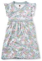Tea Collection Girl's Wandoo Wrap Neck Dress