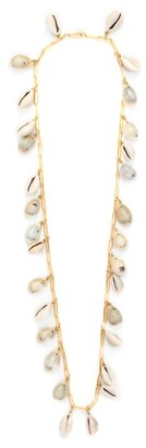 Timeless Pearly Shell And Gold-plated Chain Necklace - White
