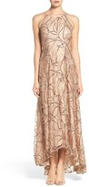 Aidan Mattox Women's Sequin Embroidered Lace & Silk Gown