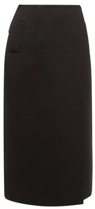 Wardrobe NYC Release 01 Wrap-front Wool Skirt - Black