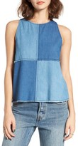 BP Women's Denim Patchwork Tank