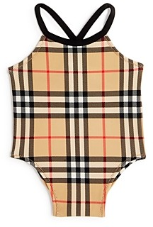 Burberry Girls' Vintage Check Swimsuit - Baby
