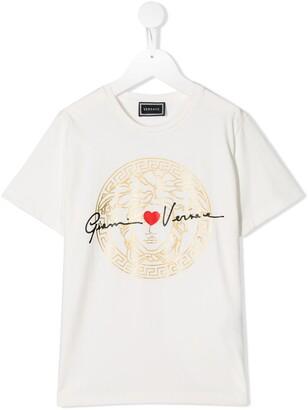 Versace signature logo print T-shirt