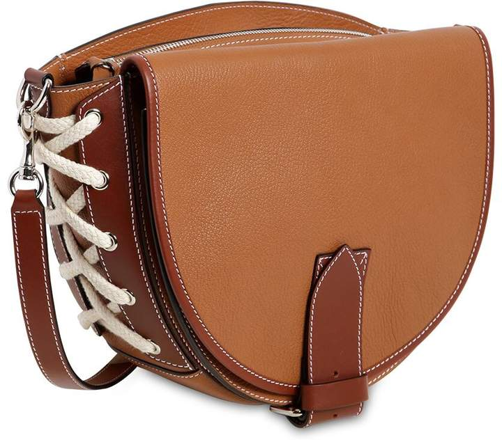 J.W.Anderson Saddle Two Tone Leather Shoulder Bag