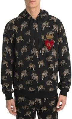 Dolce & Gabbana Mini Leopard Cotton Hoodie
