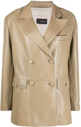 Manokhi Felicity double-breasted leather blazer