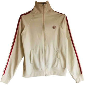Fred Perry White Cotton Jacket for Women