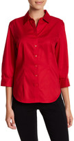Foxcroft 3/4 Length Sleeve Perfect Shirt (Petite)