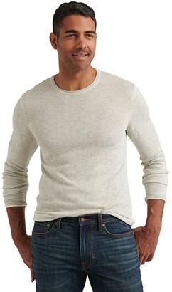 Lucky Brand Linen Blend Welterweight Crew Neck Sweater (Heather Grey) Men's Clothing