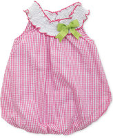 Rare Editions Smocked Check-Print Bubble Romper, Baby Girls (0-24 months)
