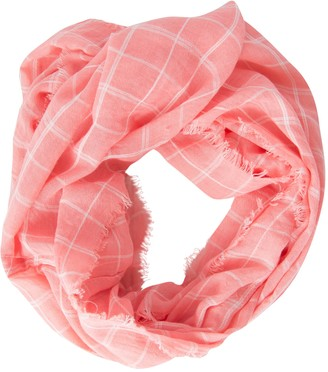 DII Tickled Pink Women's Beachy Plaid Leightweight Infinity Scarf