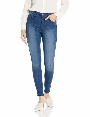 Seven7 Women's Ultra HIGH Rise Skinny W/Side Velvet Ribbon