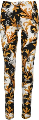 Versace Baroque-print Leggings