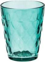 Casa Uno Glass Tea Light Holder, Diamond Pattern, Blue