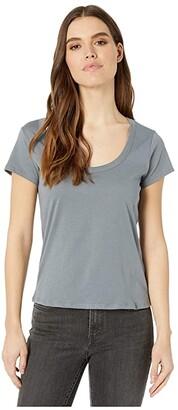 Alternative 100% Organic Cotton Short Sleeve Scoop Tee (Earth Ocean) Women's Clothing