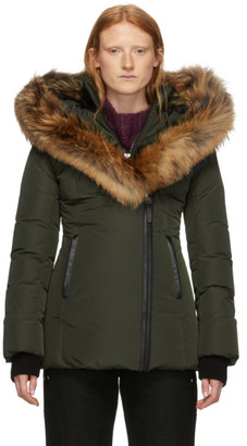 Mackage Green Down and Fur Classic Adali Parka