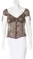 Moschino Cheap & Chic Moschino Cheap and Chic Floral Print Silk Top