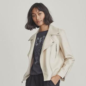 Elizabeth and James Petite Faux-Leather Moto Jacket