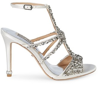 Badgley Mischka Hughes Embellished Metallic High-Heel Sandals