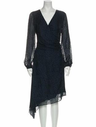 Intermix Animal Print Knee-Length Dress w/ Tags Blue