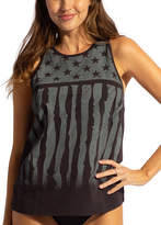 Lagaci Women's Tank Tops BLACK - Black & Gray Stars & Stripes Tank - Women