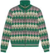Gucci Lurex wave jacquard wool jacket
