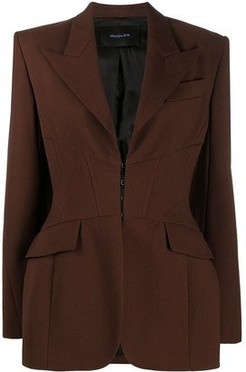 Thierry Mugler Single-Breasted Tailored Blazer