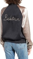 BP Women's Babetown Colorblock Satin Bomber