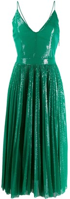 MSGM Sequined Pleated Dress