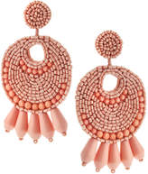 Kenneth Jay Lane Golden Seedbead Statement Earrings