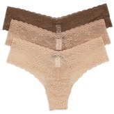 Cosabella Trenta 3-Pack Lace Thongs