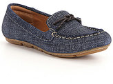 Montana Massena Denim Slip-On Knot Accent Moccasins