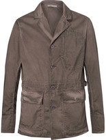 Bottega Veneta Garment-dyed Cotton Blazer - Brown