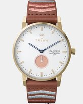 Triwa Coral Falken - Brown Embroidered