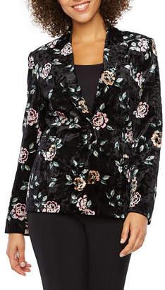 CHELSEA ROSE Chelsea Rose Floral Velvet Suit Jacket