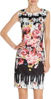 Betsey Johnson Mixed Print Scuba Sheath Dress